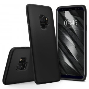 Etui SPIGEN Liquid Crystal do Samsung Galaxy S9 - Czarny Matt